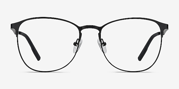 Ember Matte Black Metal Eyeglass Frames