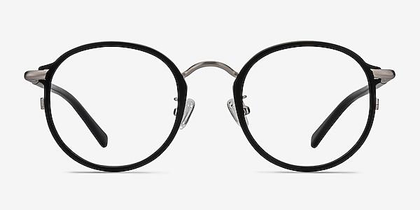 Carnival Matte Black Plastic-metal Eyeglass Frames