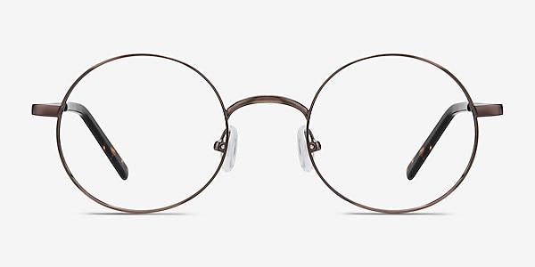 Socrates Brown Tortoise Metal Eyeglass Frames