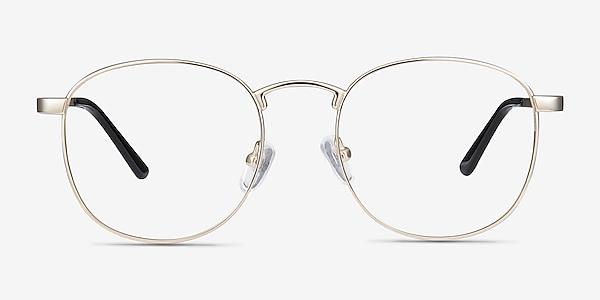 St Michel Golden Metal Eyeglass Frames