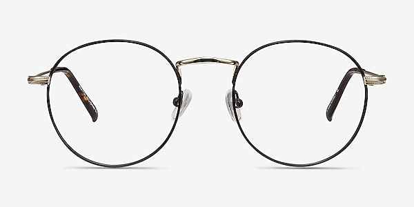 Wistful Black Metal Eyeglass Frames