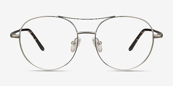 Cassini Silver Metal Eyeglass Frames