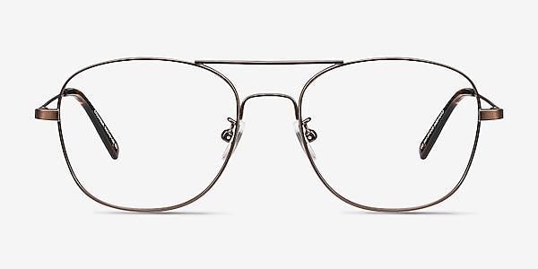 Courser Café Métal Montures de lunettes de vue