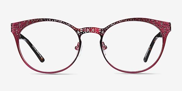 Lattice Red Purple Métal Montures de lunettes de vue