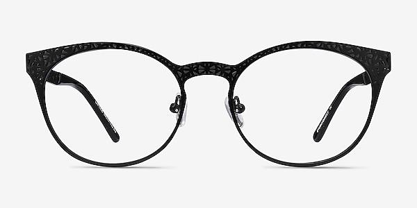 Lattice Black Metal Eyeglass Frames