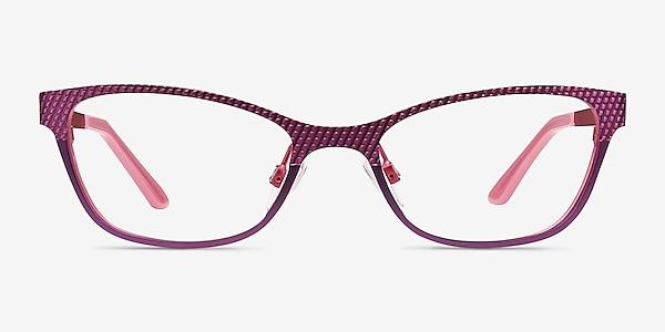 Mardi Gras Rose Métal Montures de lunettes de vue