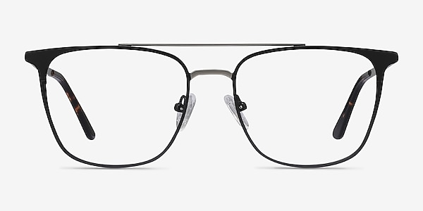 Contact Black Metal Eyeglass Frames