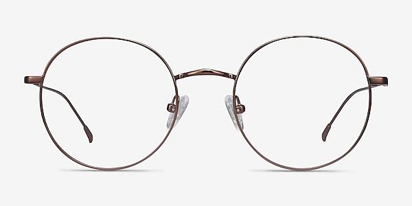 Dapper Café Métal Montures de lunettes de vue