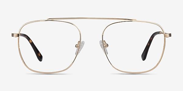 Moxie Golden Métal Montures de lunettes de vue