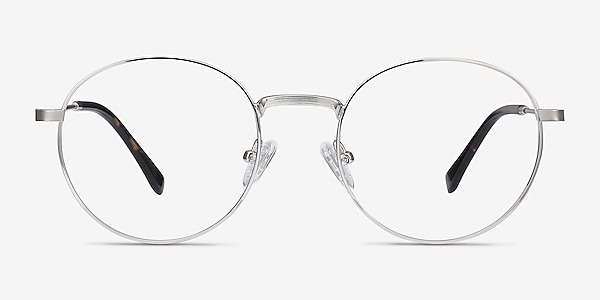 Bistro Silver Metal Eyeglass Frames