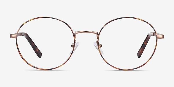Aero Tortoise Golden Metal Eyeglass Frames
