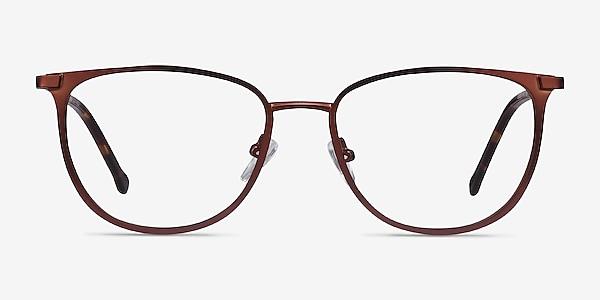 Shimmer Red Metal Eyeglass Frames