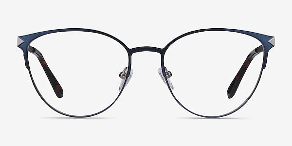 Nadia Bleu Métal Montures de lunettes de vue