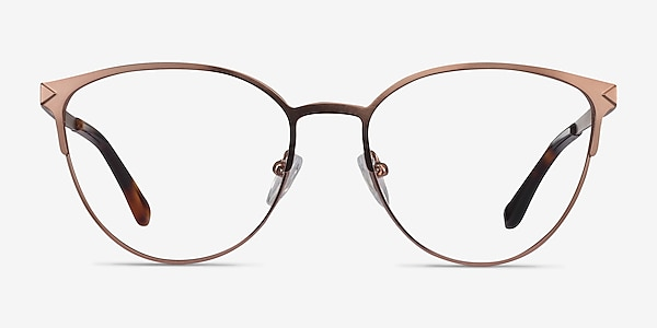Nadia Rose Gold Metal Eyeglass Frames