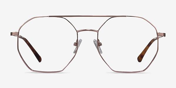 Eight Rose Gold Métal Montures de lunettes de vue
