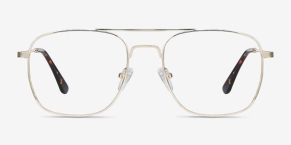 Fame Golden Metal Eyeglass Frames