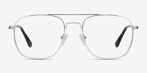Fame Silver Metal Eyeglass Frames