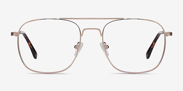 Fame Rose Gold Metal Eyeglass Frames