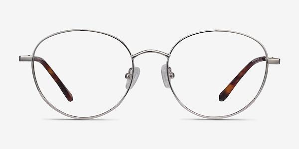 Twirl Silver Metal Eyeglass Frames