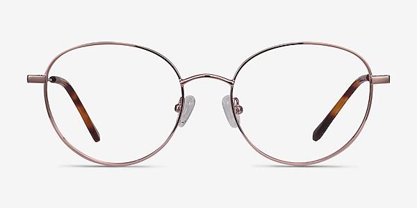 Twirl Rose Gold Métal Montures de lunettes de vue