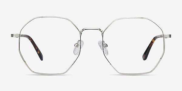 Octave Silver Metal Eyeglass Frames