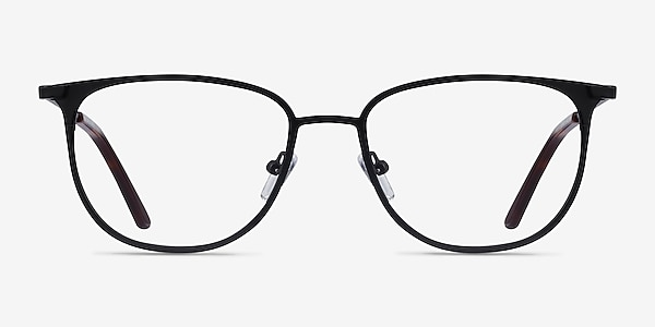 Vita Black Metal Eyeglass Frames