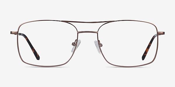 Daymo Brown Metal Eyeglass Frames