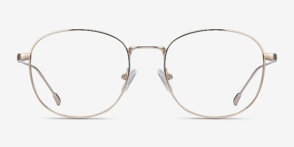 Vantage Doré Métal Montures de lunettes de vue