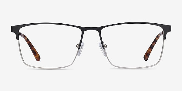 Edito Black Metal Eyeglass Frames