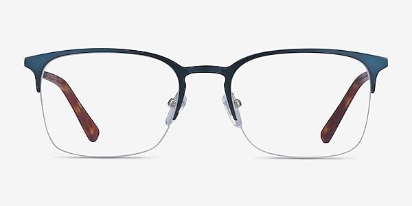 Vimy Bleu Métal Montures de lunettes de vue