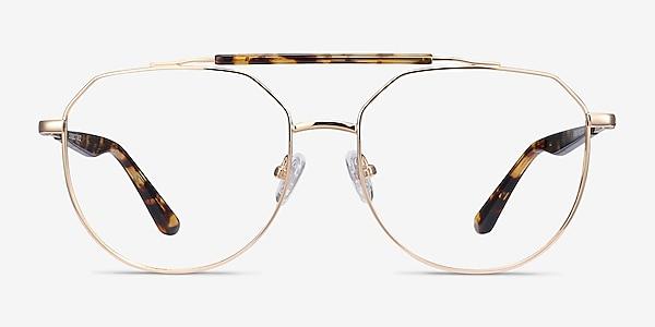 Coxon Golden Tortoise Metal Eyeglass Frames