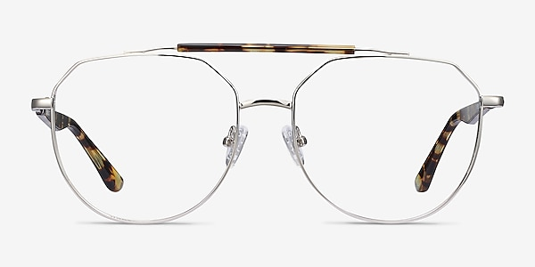 Coxon Silver Tortoise Metal Eyeglass Frames