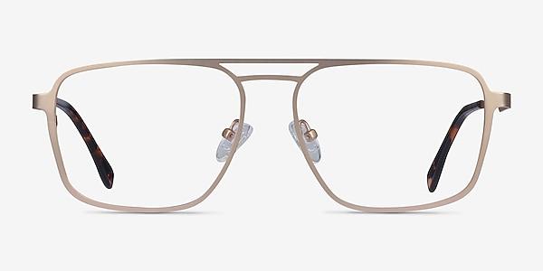Gallo Gold Metal Eyeglass Frames