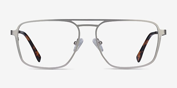 Gallo Silver Metal Eyeglass Frames