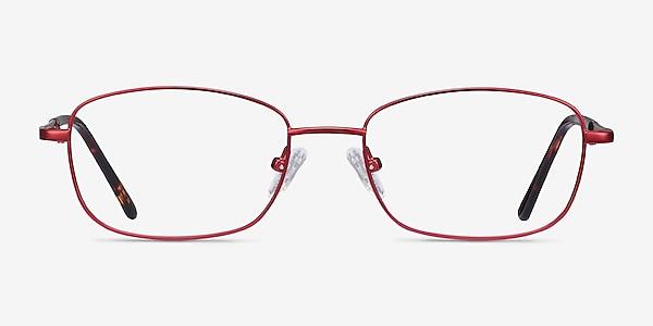 Path Burgundy Metal Eyeglass Frames