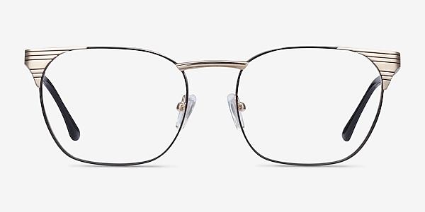 Soulist Black Golden Metal Eyeglass Frames