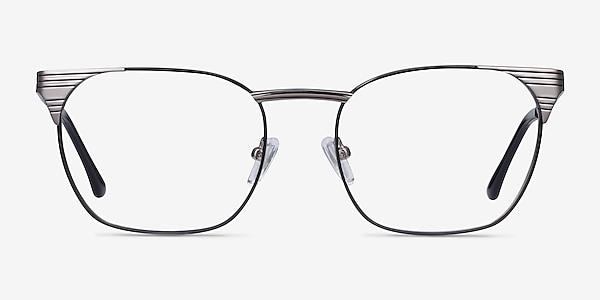 Soulist Black Silver Metal Eyeglass Frames