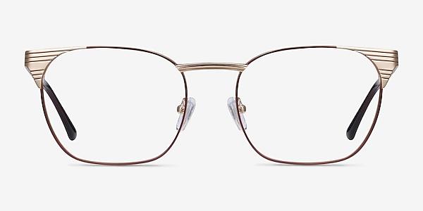 Soulist Brown Golden Metal Eyeglass Frames
