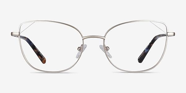 Moment Silver Metal Eyeglass Frames