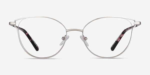 Trance Silver Metal Eyeglass Frames