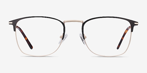 Poppy Black Gold Metal Eyeglass Frames