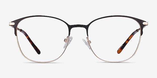 Disperse Black Metal Eyeglass Frames