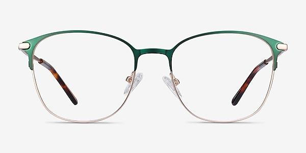 Disperse Green Metal Eyeglass Frames