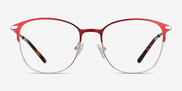 Disperse Red Metal Eyeglass Frames