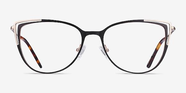 Garance Black Gold Metal Eyeglass Frames