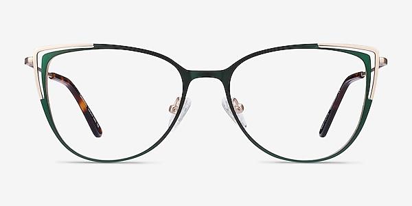 Garance Green & Gold Métal Montures de lunettes de vue