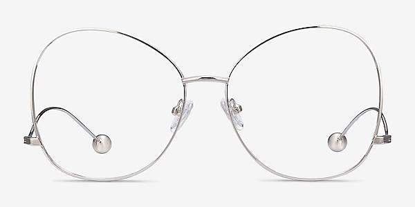 Renata Silver Metal Eyeglass Frames