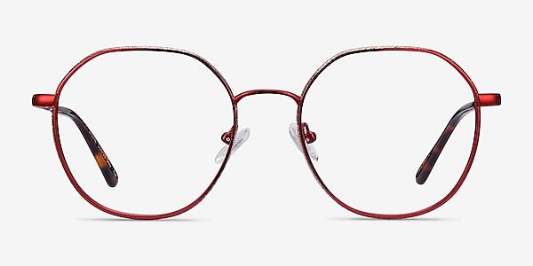 Sylvie Red Metal Eyeglass Frames