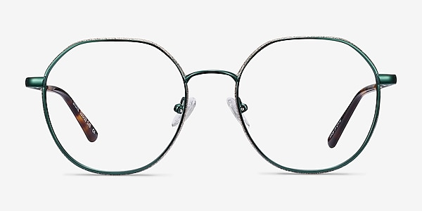 Sylvie Green Metal Eyeglass Frames