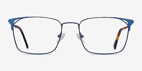 Emett Blue Metal Eyeglass Frames